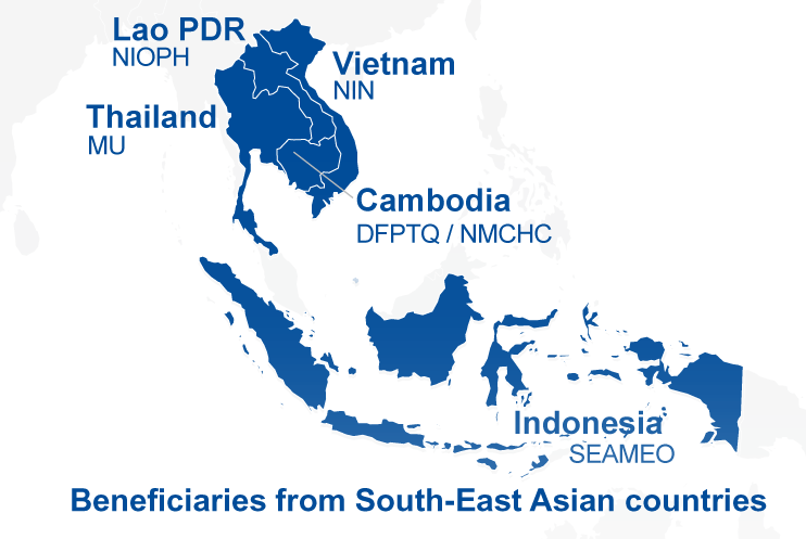 Partners SMILING IRD SMILING – Southeast Asian Country Map